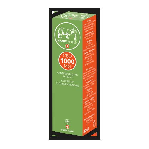 Hanfpfoten CBD Öl 1000 mg