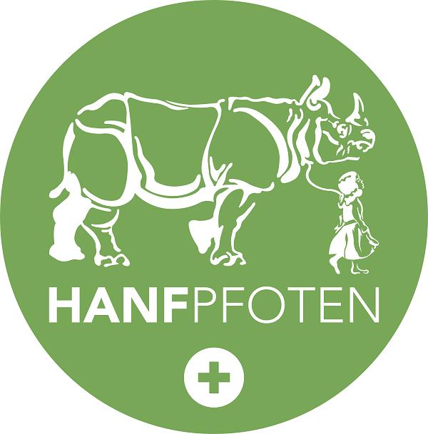 hanfpfoten logo grün rund